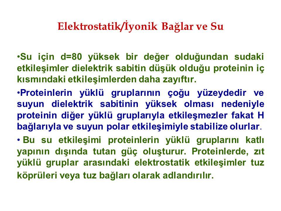 Elektrostatik/İyonik Bağlar ve Su