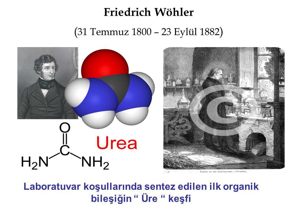Friedrich Wöhler (31 Temmuz 1800 – 23 Eylül 1882)