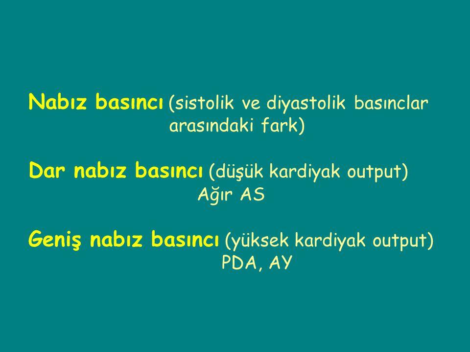 Nabız basıncı (sistolik ve diyastolik basınclar