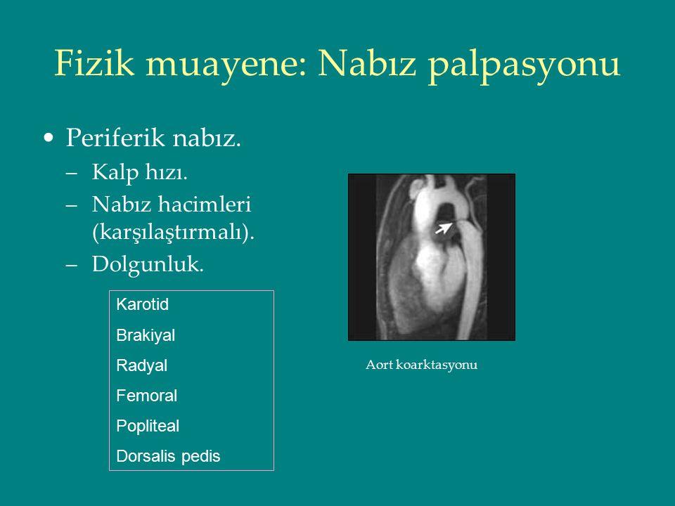 Fizik muayene: Nabız palpasyonu