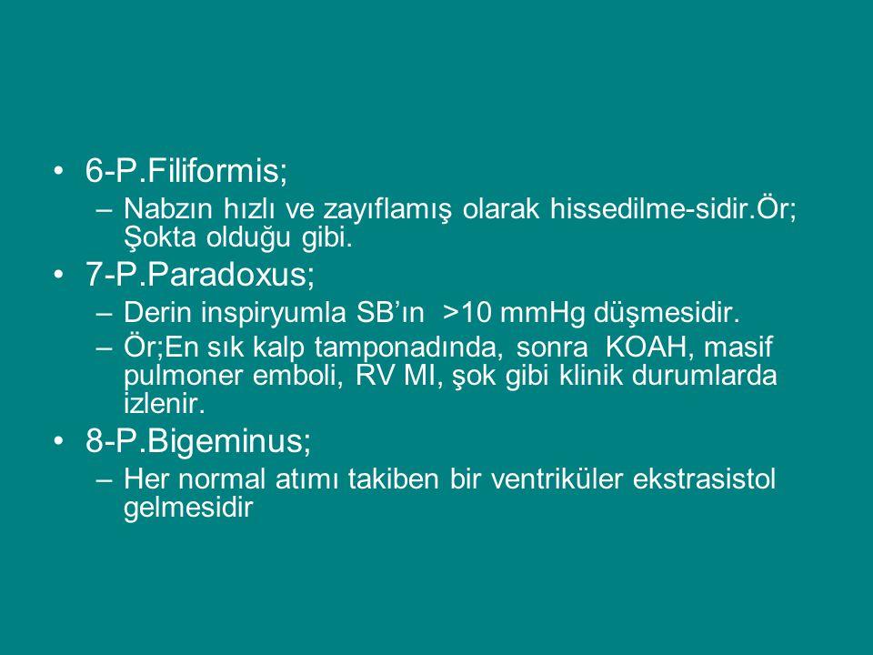 6-P.Filiformis; 7-P.Paradoxus; 8-P.Bigeminus;
