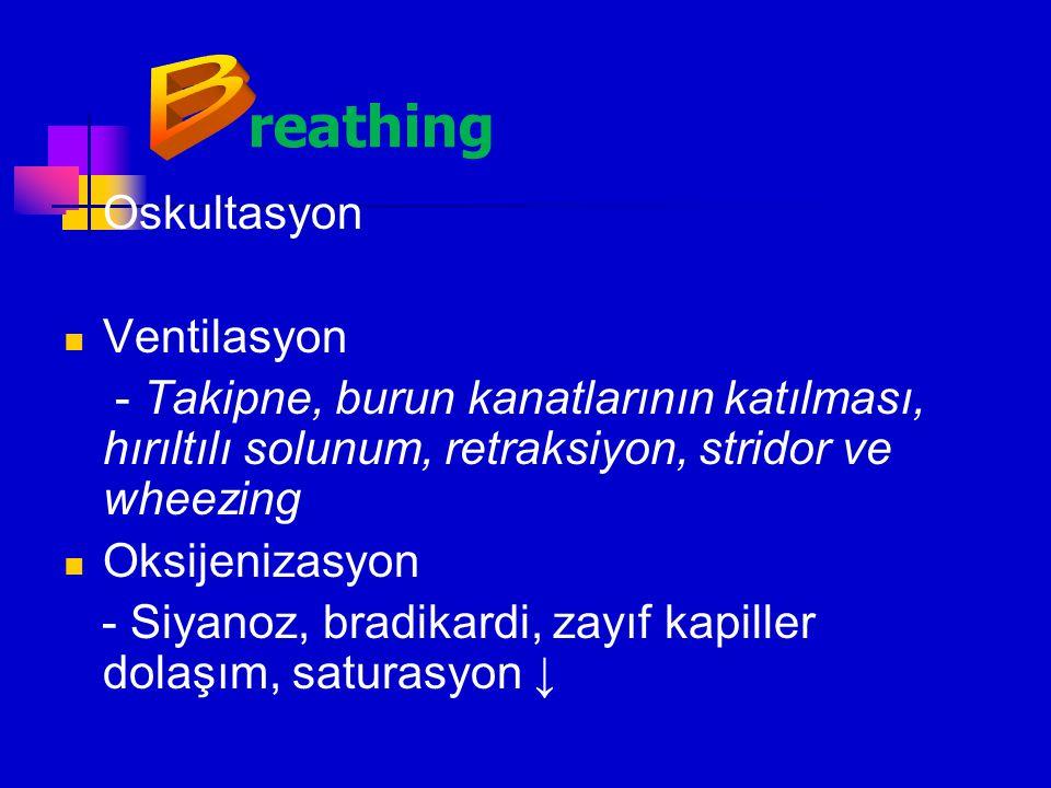 reathing B Oskultasyon Ventilasyon