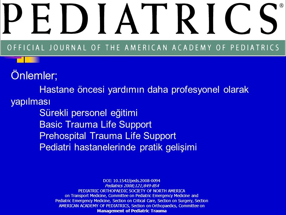 Management of Pediatric Trauma
