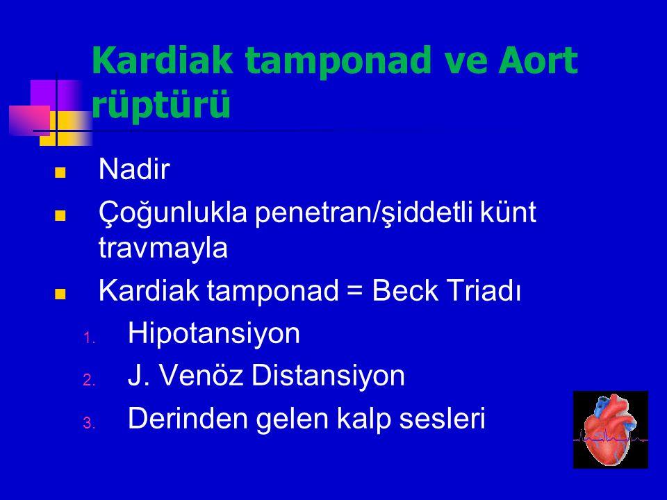 Kardiak tamponad ve Aort rüptürü