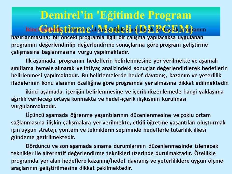 Demirel'in Eğitimde Program Geliştirme Modeli (DEPGEM)