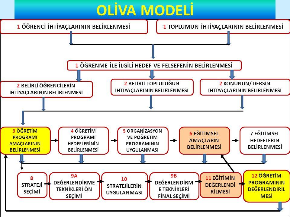 OLİVA MODELİ 1 ÖĞRENCİ İHTİYAÇLARININ BELİRLENMESİ