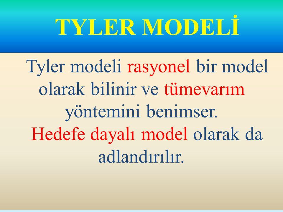 Hedefe dayalı model olarak da adlandırılır.