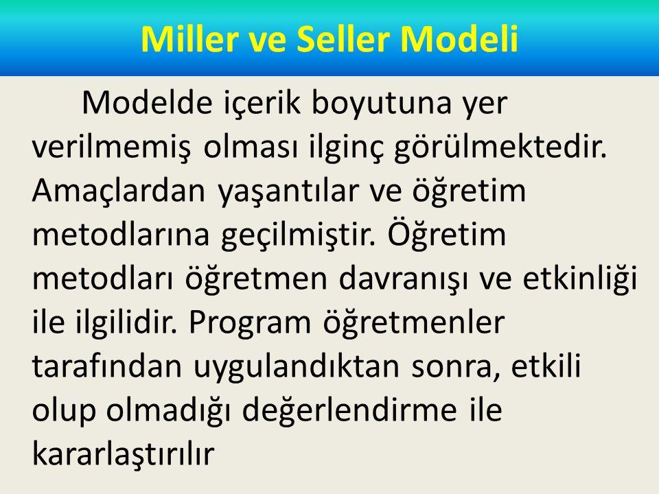 Miller ve Seller Modeli