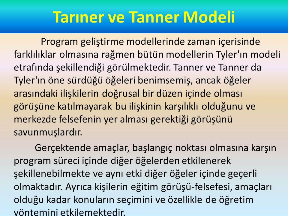Tarıner ve Tanner Modeli