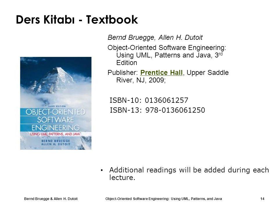 Ders Kitabı - Textbook Bernd Bruegge, Allen H. Dutoit