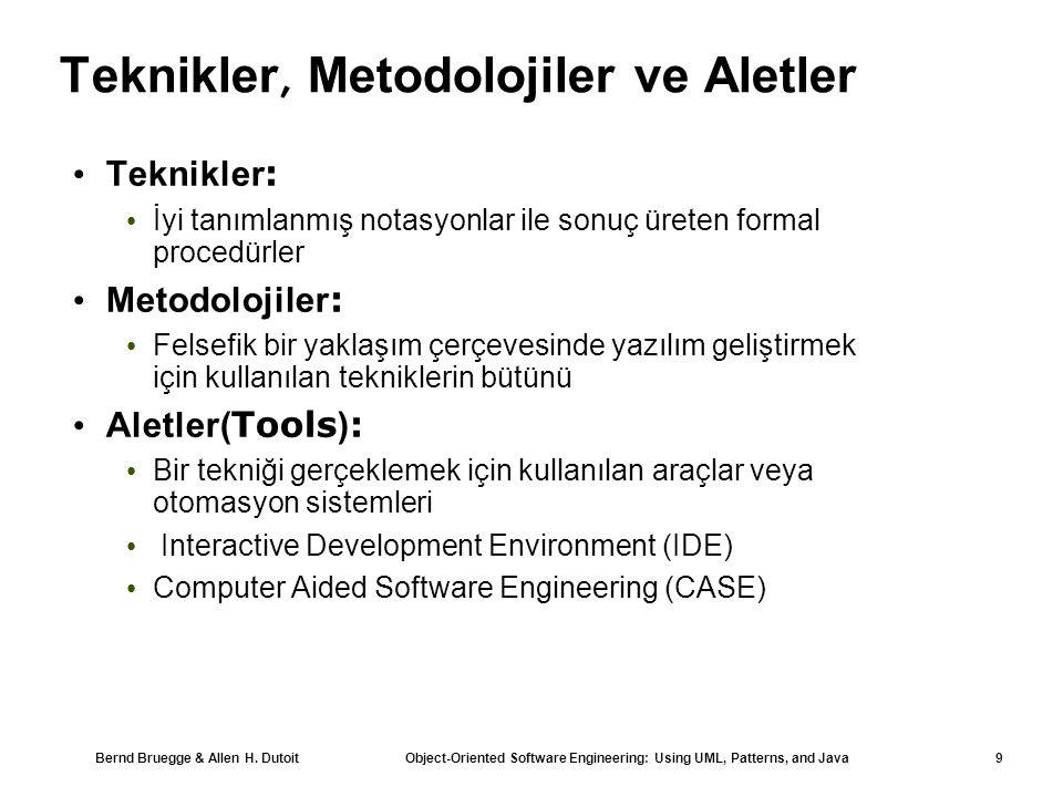 Teknikler, Metodolojiler ve Aletler