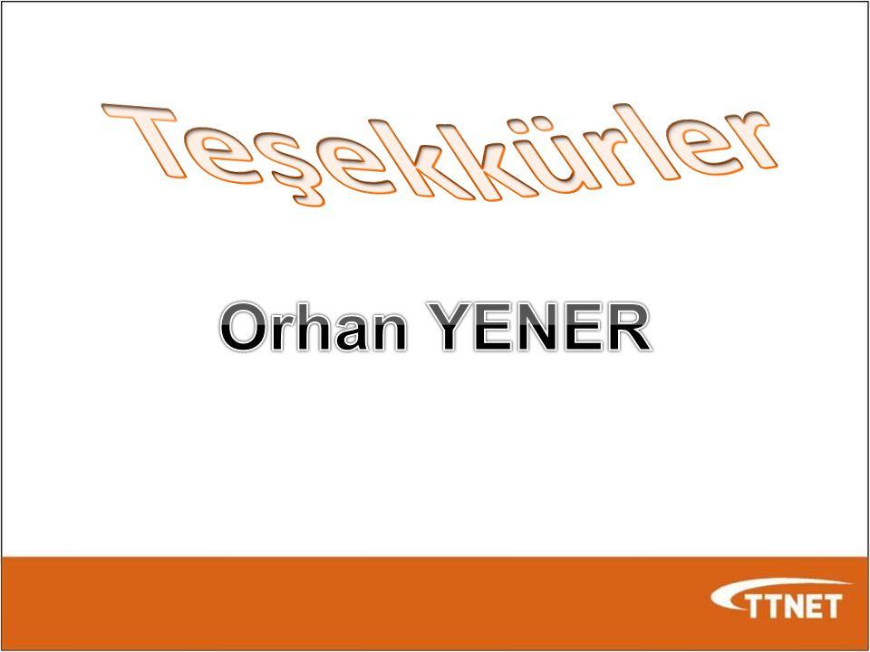 Teşekkürler Orhan YENER