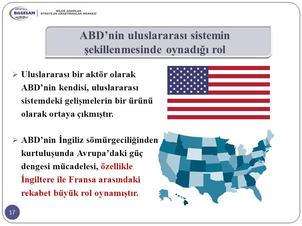 ABD'nin uluslararası sistemin şekillenmesinde oynadığı rol