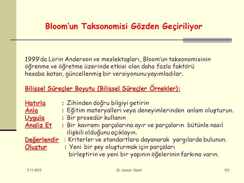 Bloom'un Taksonomisi Gözden Geçiriliyor