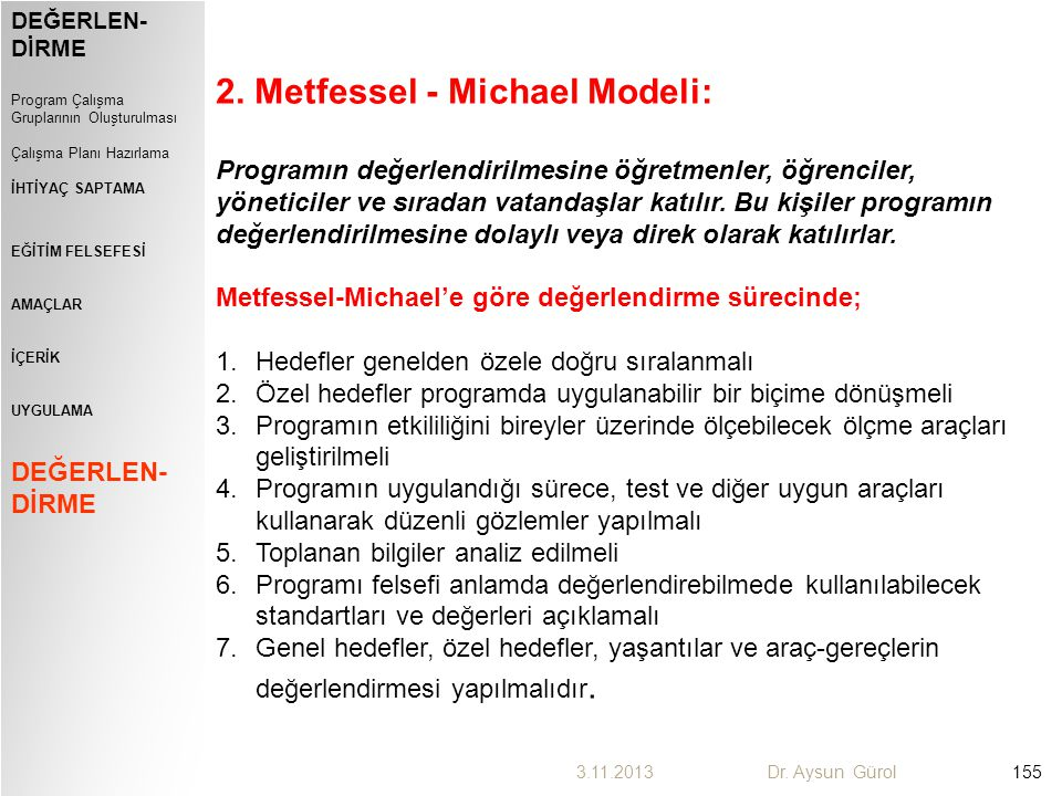 2. Metfessel - Michael Modeli: