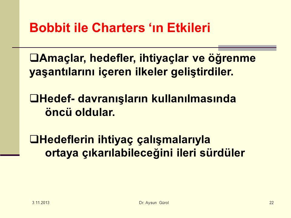 Bobbit ile Charters 'ın Etkileri