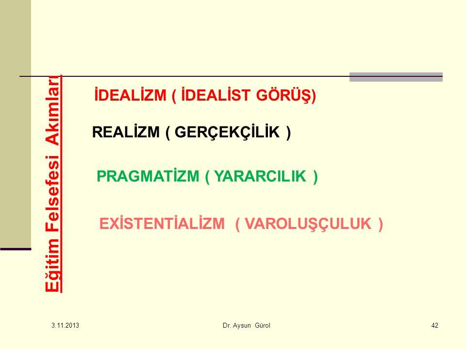 PRAGMATİZM ( YARARCILIK ) EXİSTENTİALİZM ( VAROLUŞÇULUK )