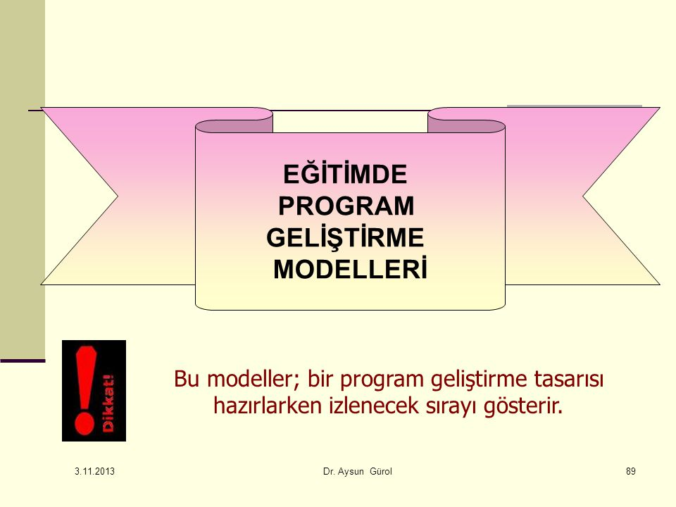 EĞİTİMDE PROGRAM GELİŞTİRME MODELLERİ
