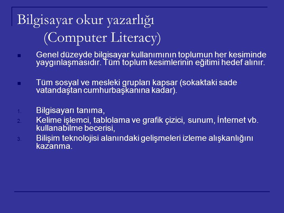 Bilgisayar okur yazarlığı (Computer Literacy)