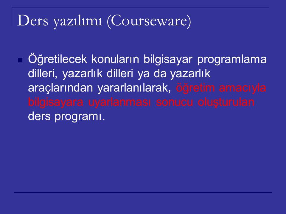 Ders yazılımı (Courseware)