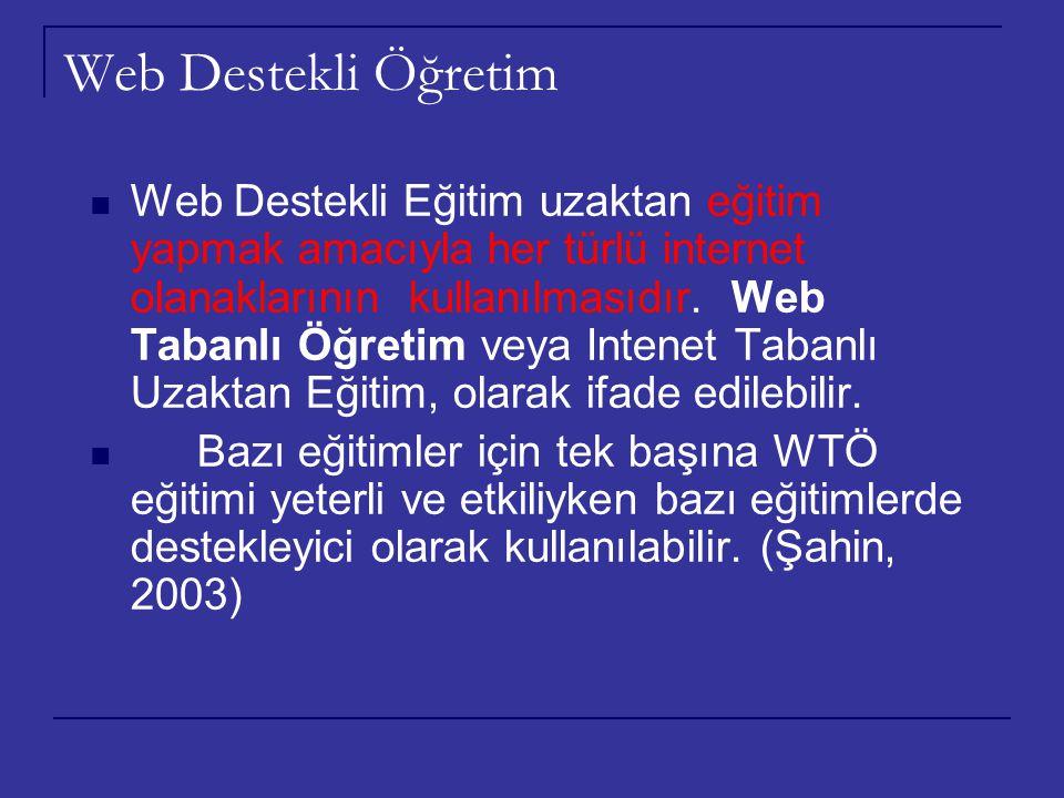 Web Destekli Öğretim