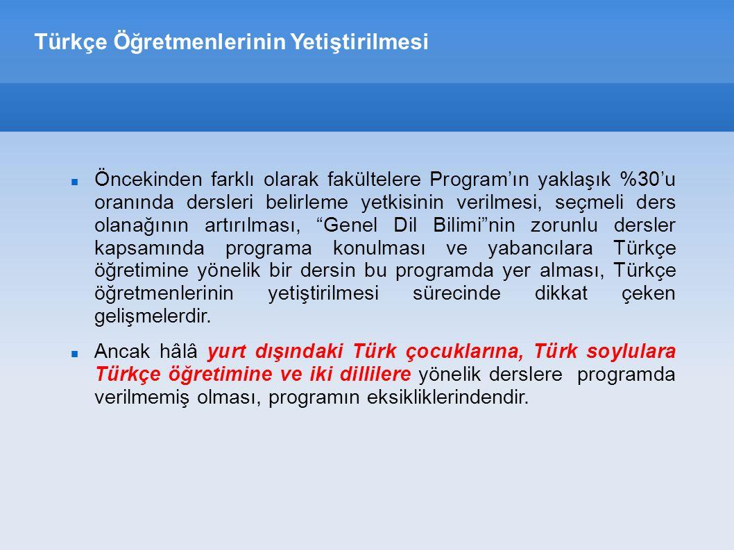 Türkçe Öğretmenlerinin Yetiştirilmesi