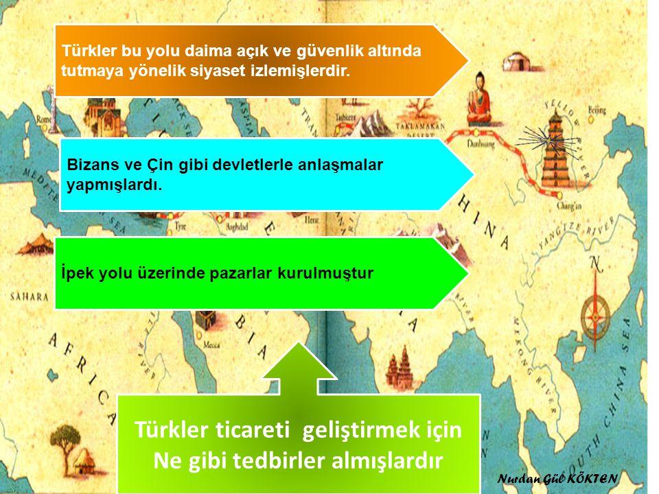 Türkler ticareti geliştirmek için Ne gibi tedbirler almışlardır