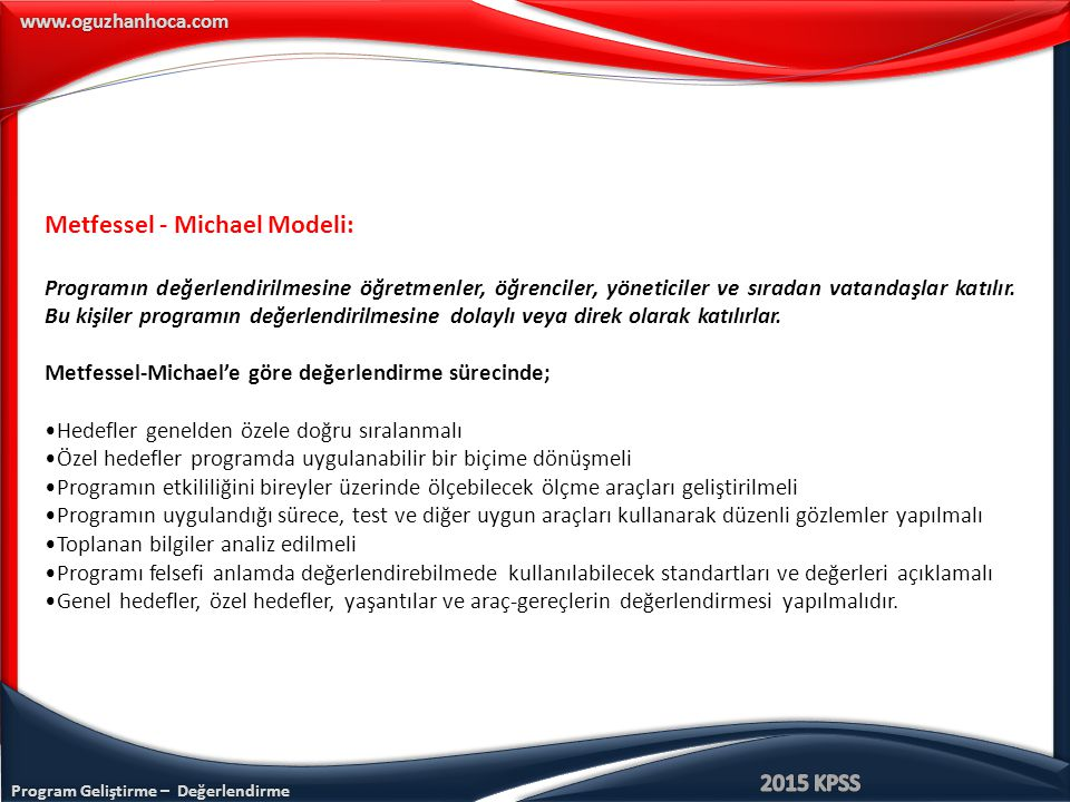 Metfessel - Michael Modeli: