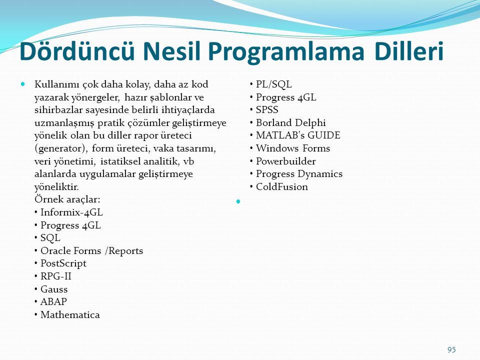 Dördüncü Nesil Programlama Dilleri