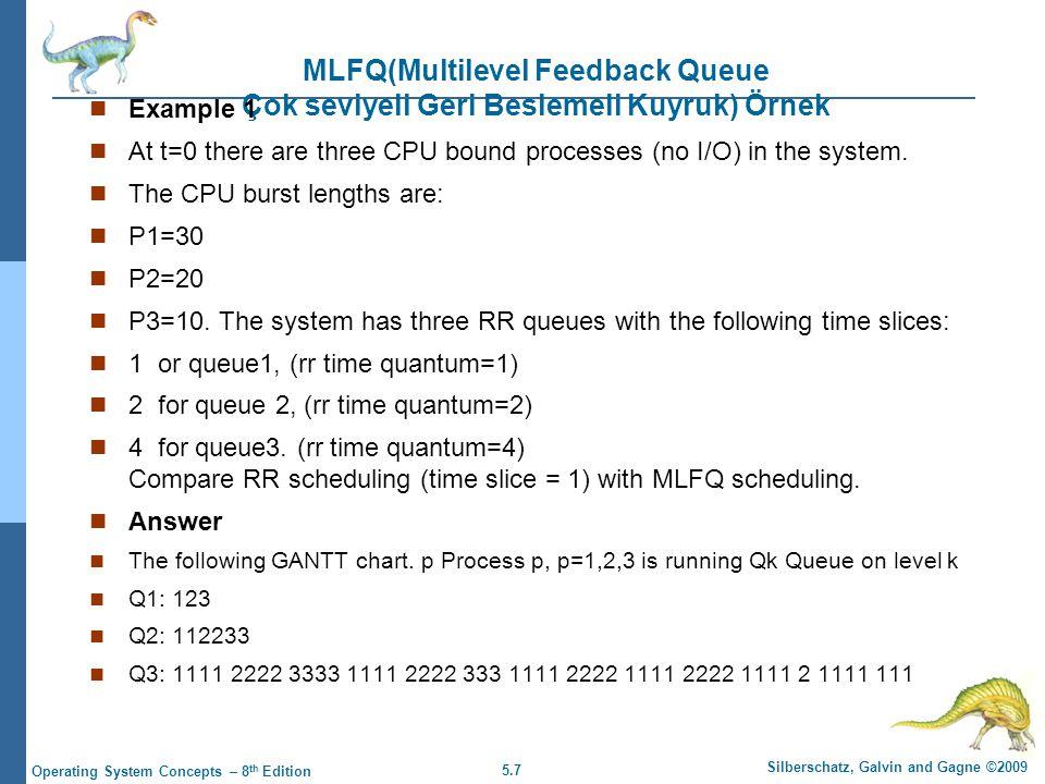 MLFQ(Multilevel Feedback Queue Çok seviyeli Geri Beslemeli Kuyruk) Örnek