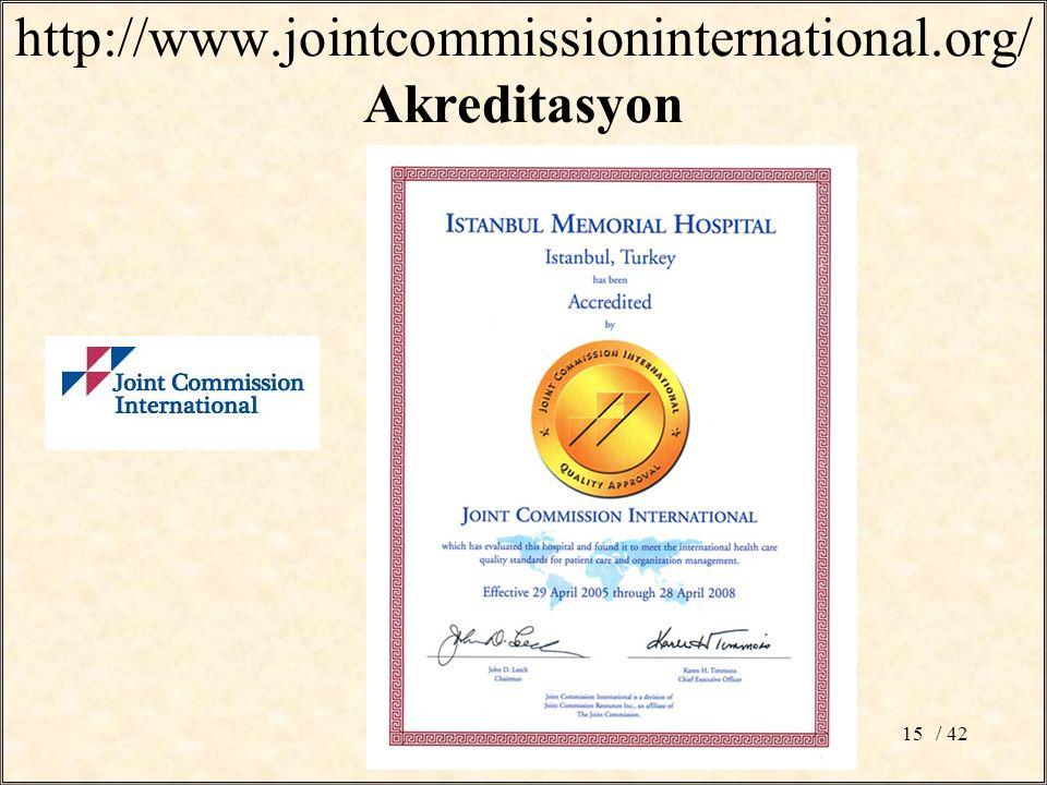 http://www.jointcommissioninternational.org/ Akreditasyon