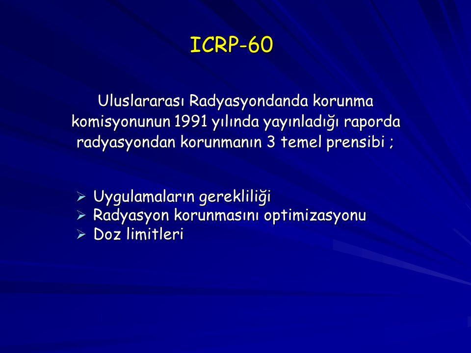 ICRP-60 Uluslararası Radyasyondanda korunma