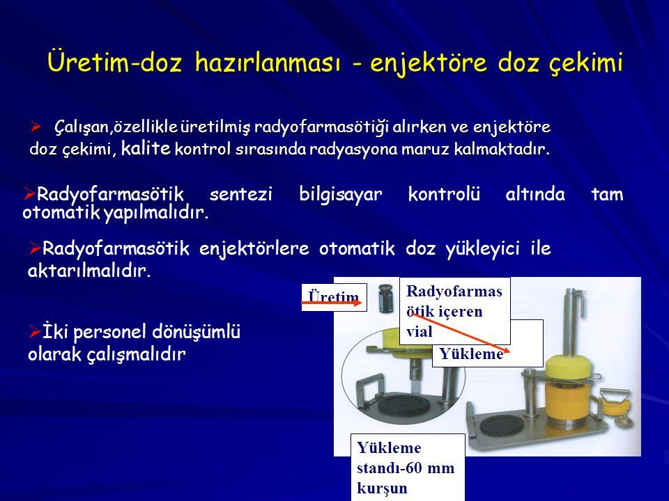 Üretim-doz hazırlanması - enjektöre doz çekimi