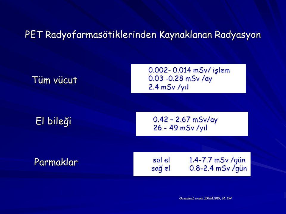 PET Radyofarmasötiklerinden Kaynaklanan Radyasyon