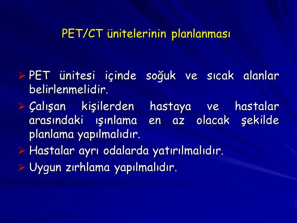 PET/CT ünitelerinin planlanması