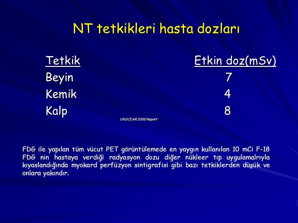 NT tetkikleri hasta dozları
