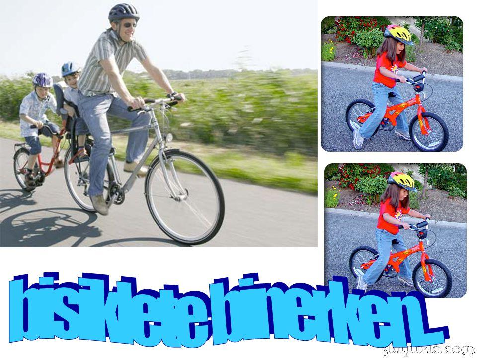 bisiklete binerken...