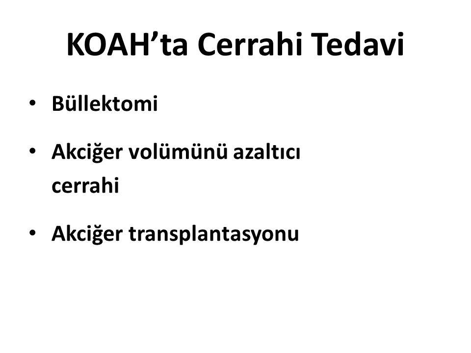 KOAH'ta Cerrahi Tedavi