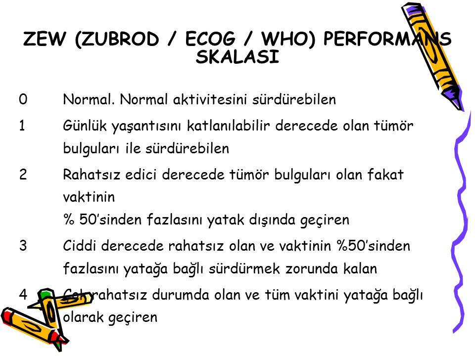 ZEW (ZUBROD / ECOG / WHO) PERFORMANS SKALASI
