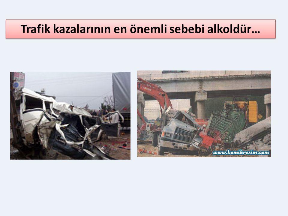 Trafik kazalarının en önemli sebebi alkoldür…