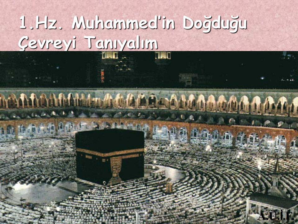 1.Hz. Muhammed'in Doğduğu Çevreyi Tanıyalım