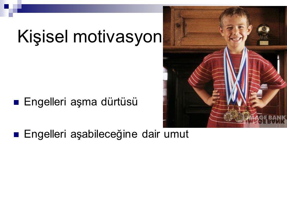 Kişisel motivasyon Engelleri aşma dürtüsü