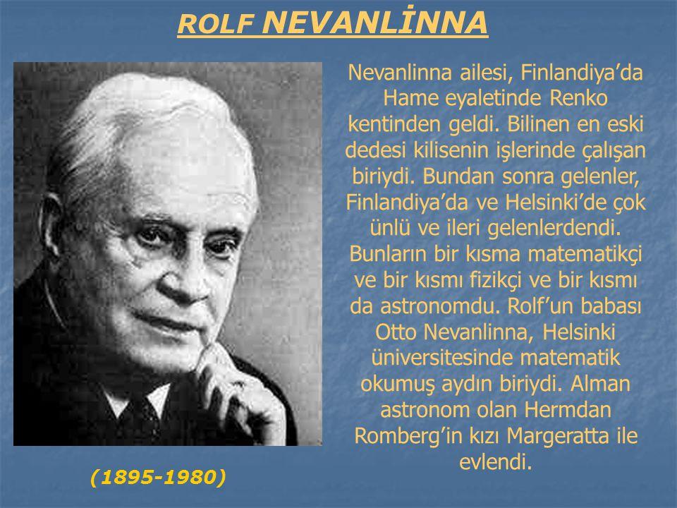 ROLF NEVANLİNNA
