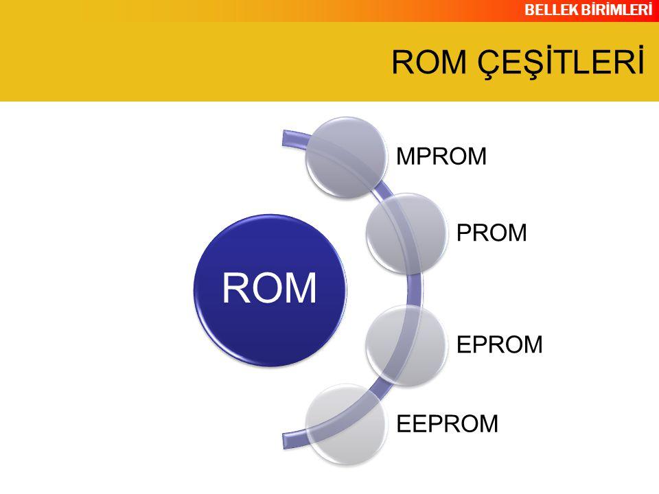 ROM ÇEŞİTLERİ ROM MPROM PROM EPROM EEPROM