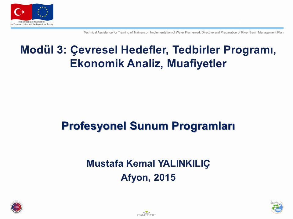 Profesyonel Sunum Programları Mustafa Kemal YALINKILIÇ