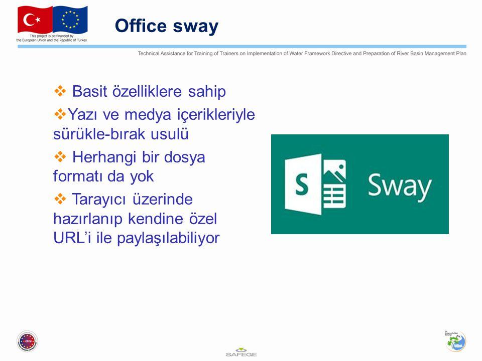 Office sway Basit özelliklere sahip