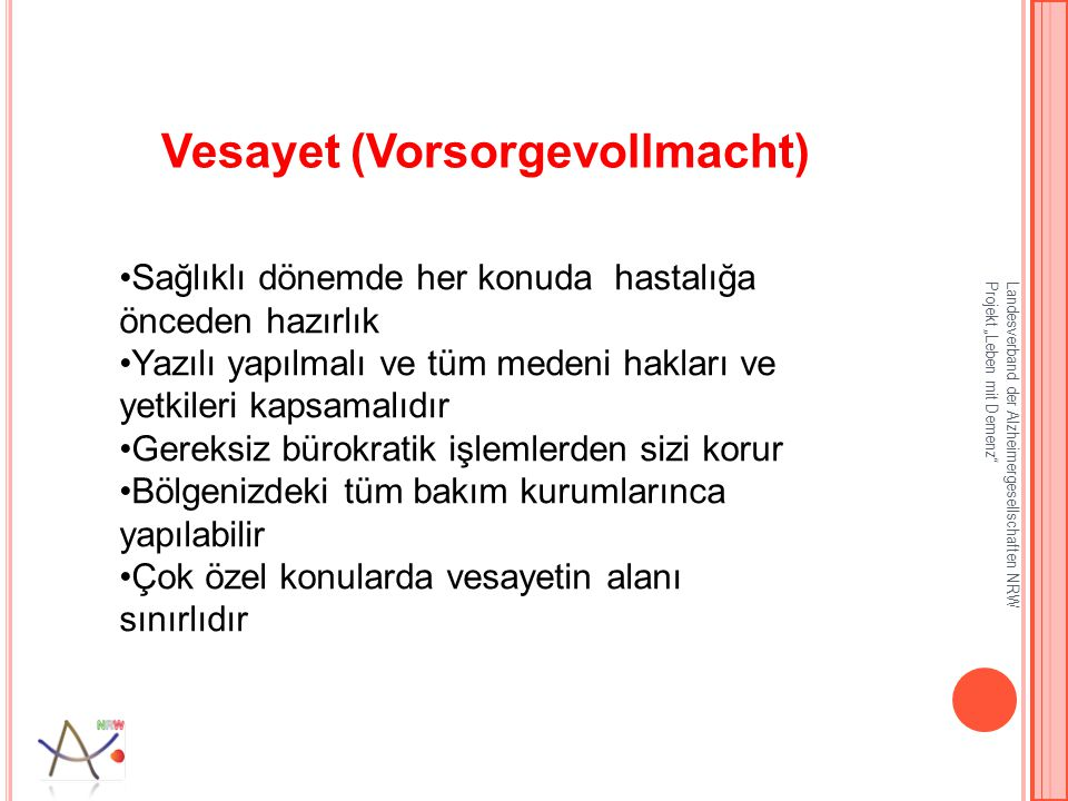 Vesayet (Vorsorgevollmacht)