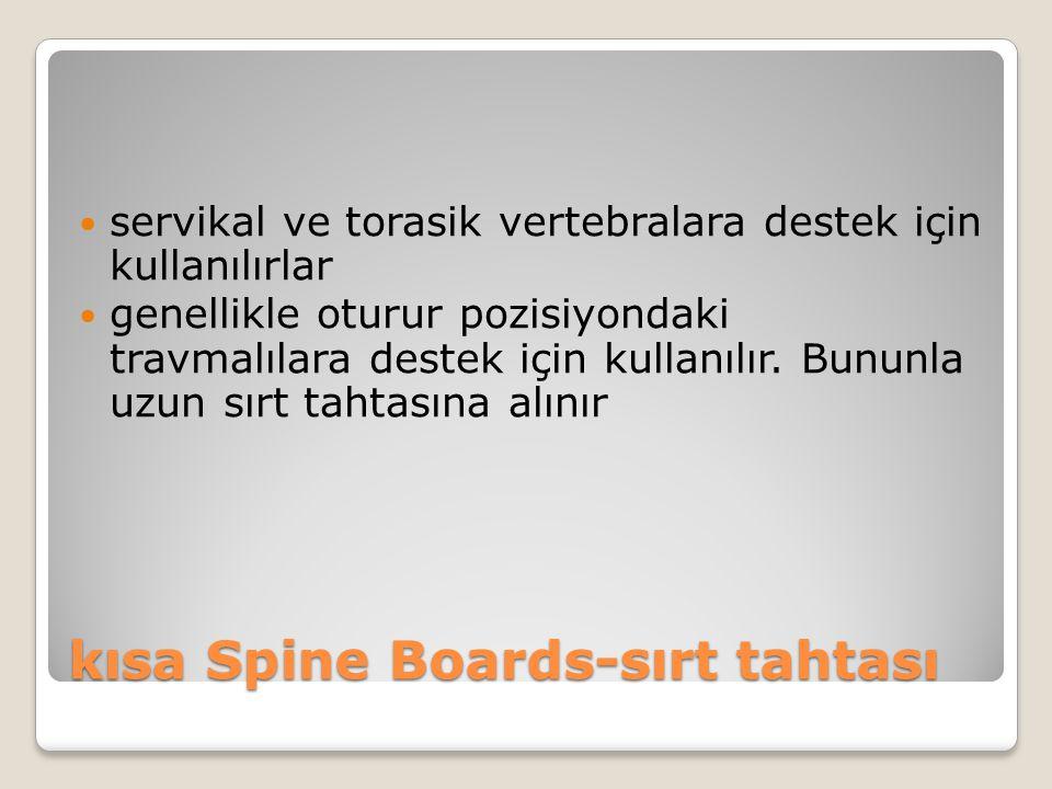 kısa Spine Boards-sırt tahtası
