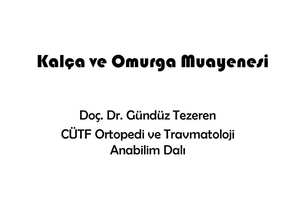 Kalça ve Omurga Muayenesi