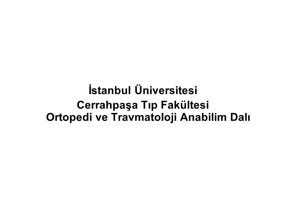 İstanbul Üniversitesi Cerrahpaşa Tıp Fakültesi Ortopedi ve Travmatoloji Anabilim Dalı